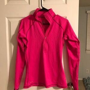 Nike pink quarter zip